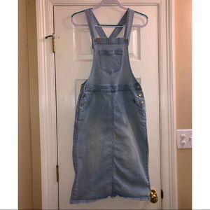 Blue Jean Skirt Overalls:)